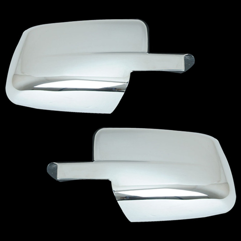 1500 2500 3500 09-16 For Dodge Ram without Turn Signal Light Chrome plated Full ABS Mirror Cover a pair