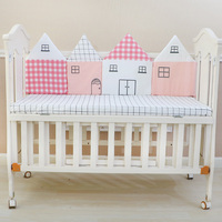 4pcs/set Baby Bed Bumper Infant Crib Cushion Baby Protector Newborn Cot Around Pillows For Girl Boy Bedroom Decoration 45*120cm