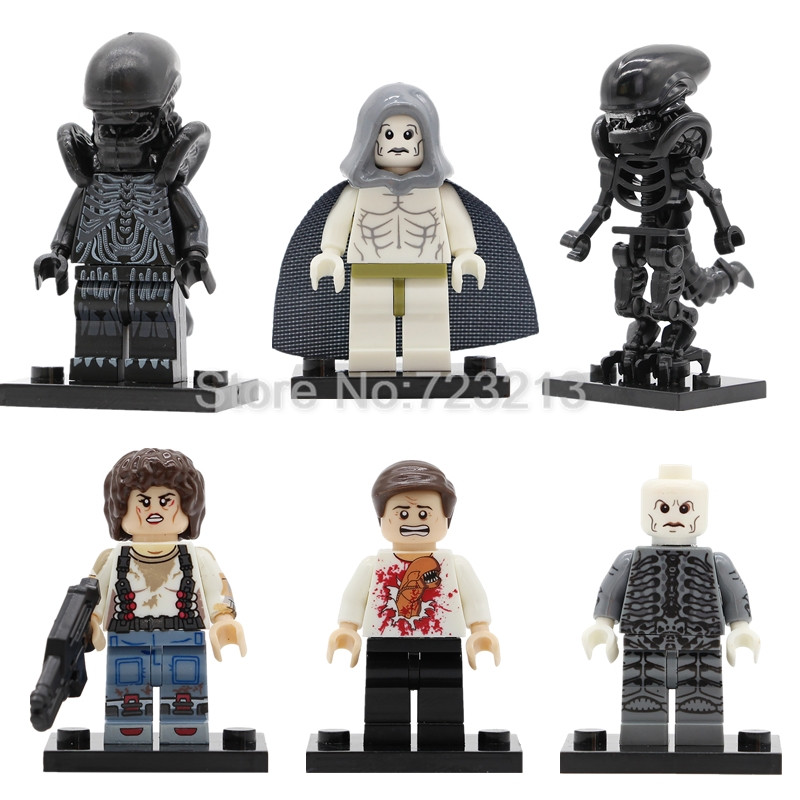 Single Sale Alien Figure Space Jockey Prometheus Ellen Ripley Parasite Building Blocks Movie Set Model Kits Bricks Toy prometheus omnibus
