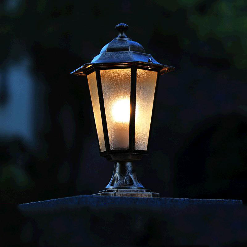 Us 10 75 46 Off Waterproof Pillar Landscape Lighting Stigma Outdoor Post Light Fixtures Courtyard Villa Column Lights Engineering Park Chapiter In
