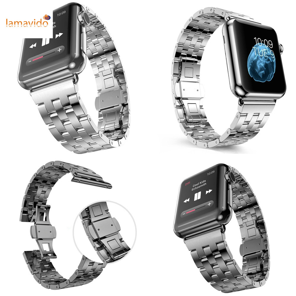 Stainless Steel Watchband for iWatch Apple Watch / Sport / Edition 38mm 42mm Wrist Band Strap Bracelet with adapter Black Silver stainless steel band bracelet wrist strap for 38mm 42mm iwatch apple watch sport edition with adapter