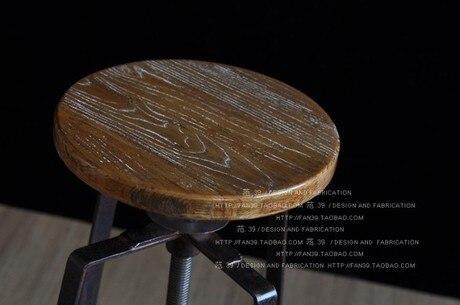 2eaef1b3003e Barra americana sillas de madera taburete taburete piso recepción de la oficina  sillas de hierro forjado sillas de bar en Taburetes para bar de Muebles en  ...