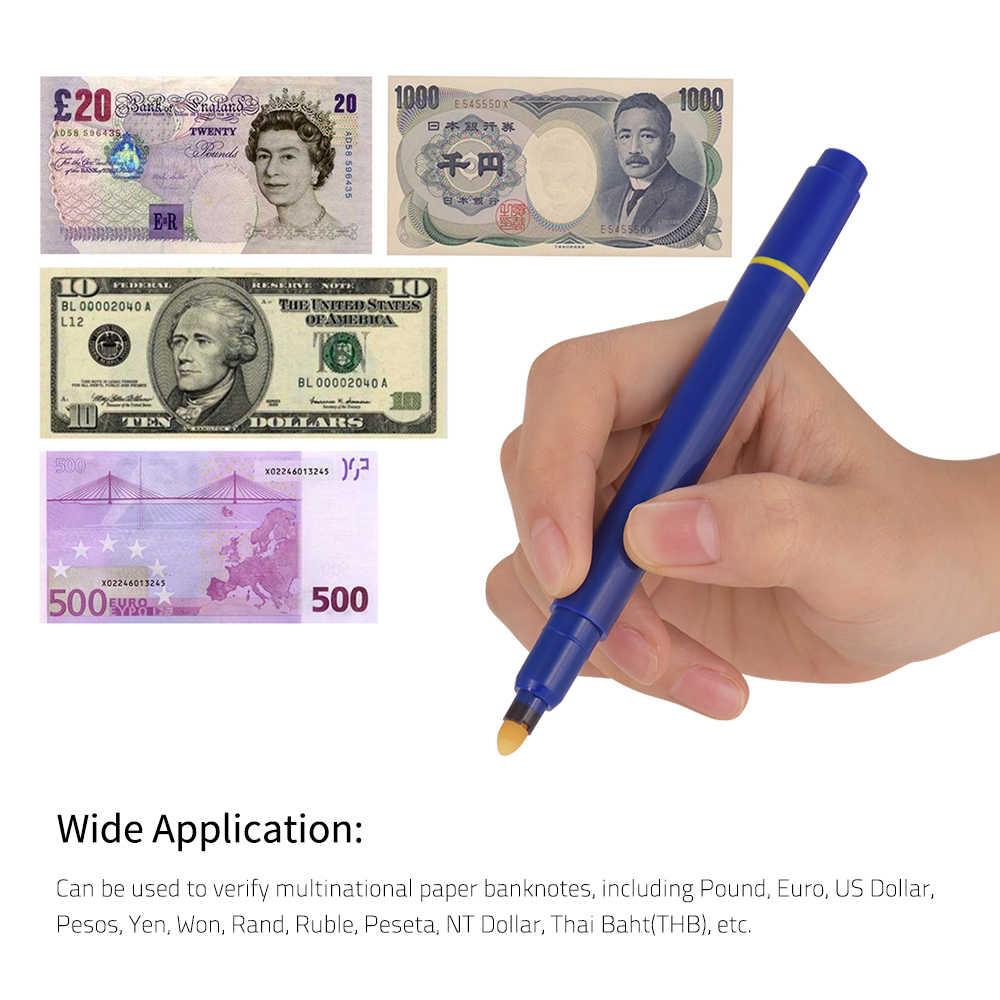 Tragbare Mini Banknote Tester Stift Falschgeld-detektor Stift Geld Marker Währung Bargeld Checker Marker mit Kugelschreiber