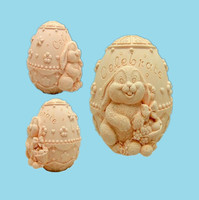 3D Easter Egg Soap Mold Silicone Mold Soap Mold Candle Molds Handmade Chocolate Animal Cake Decorating