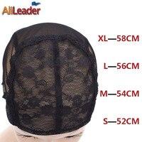 10 Cái/lốc Ren Tóc Giả Cap Để Làm Tóc Giả Với Điều Chỉnh dây đeo Trên Lưng Dệt Cap Kích Thước S/M/L/XL Glueless Wig mũ