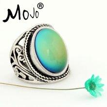 Mojo Винтаж Богемия Ретро Цвет изменить настроение кольцо чувство эмоция переменчивый кольцо Контроль температуры кольцо для Для женщин mj-rs019