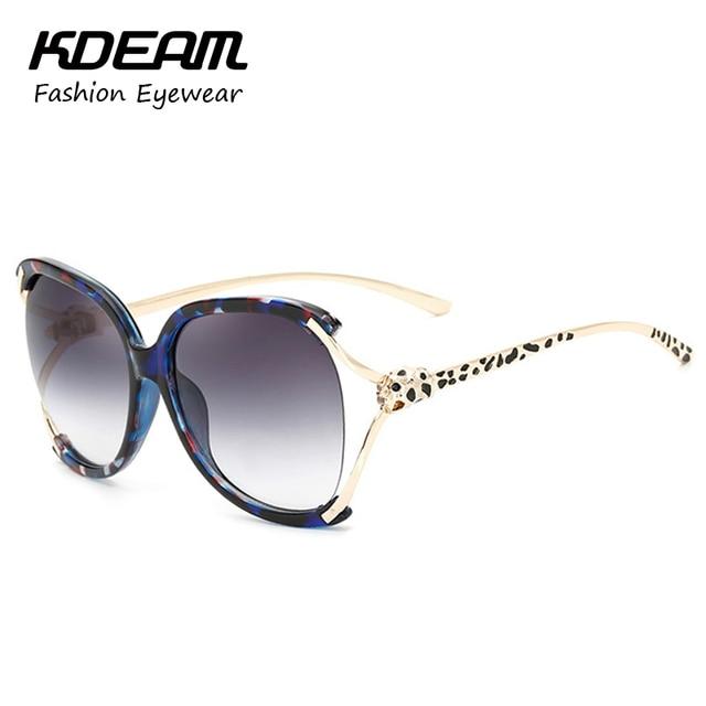 e07bf5c492c Kdeam Victoria s Fashion Sunglasses Butterfly Sun Glasses Big-Size Leopard  Detail Sunglass Women occhiali da