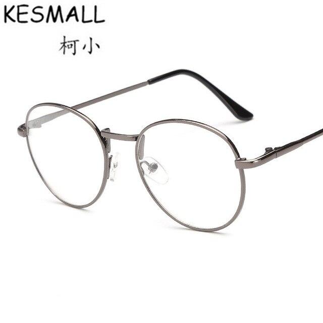 KESMALL Summer Spectacles Frame Women Man Metal Frame Eyeglasses ...