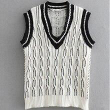Jersey de punto de moda de las mujeres chaleco sin mangas de las mujeres 98a1f5994a60