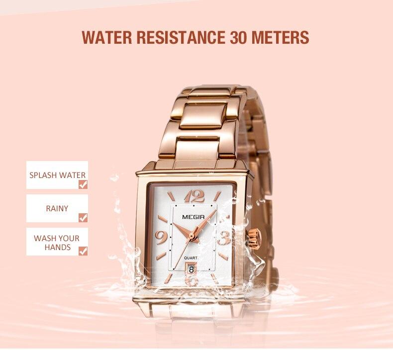 Mulheres Relógio de Ouro Rosa Pulseira De