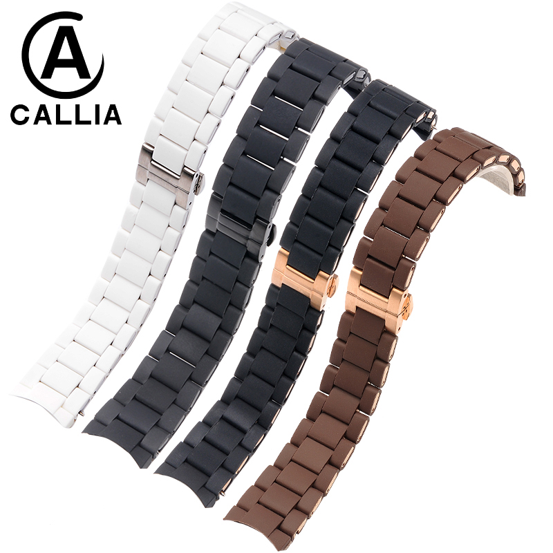 20MM 23MM High Quality  Rubber Silicone WatchBand For Armani Silicone Rubber Wrapped Stainless Steel Watch Strap For AR5906 5890 liaopijiang bao gangshi used ar5890 ar5905 ar5906 stainless steel strip rubber fashion 20 23mm