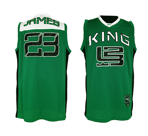 4011524140c1 Real  23 Lebron James High School Basketball Jersey King is back St.  Vincent Mary Green James Irish Throwback Jerseys