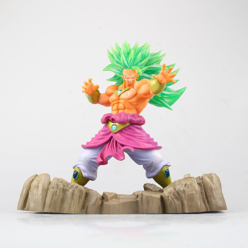 Anime Dragon Ball Z Figure Super Saiyan Broli Juguetes PVC Action Figure Brinquedos Collectible Model Doll Kids Toys 17cm shfiguarts anime dragon ball z son gokou movable pvc action figures collectible model toys doll 18cm dbaf094