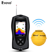 Eyoyo EF001C Wi-fi Sonar Fish Finder 45M Water Depth  2.4″ Coloration LCD Rechargeable Transportable fishfinder with Enticing lamp