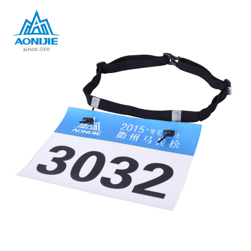 Aonijie Unisex Triathlon Marathon Race Number Belt With Gel Holder Running Belt Cloth Belt Motor Running Outdoor Sports Bag