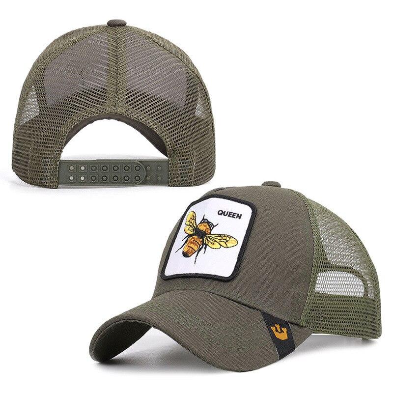 Новая сетка для мужчин и женщин, летняя крутая бейсболка, кепка королевы пчелы, бейсболка, мужская и женская индивидуальная Кепка, Солнцезащ...