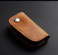 Leather Car Key Cover For BMW Key Case For E46 E39 E90 E60 F30 E36 X3 E83 E38 E36 F10 F20 E34 E38 X1 F48 For BMW Wallet