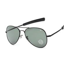 Fashion Aviation Sunglasses Men Brand Designer AO Sun Glasses For Male American Army Military Optical Glass Lens Oculos