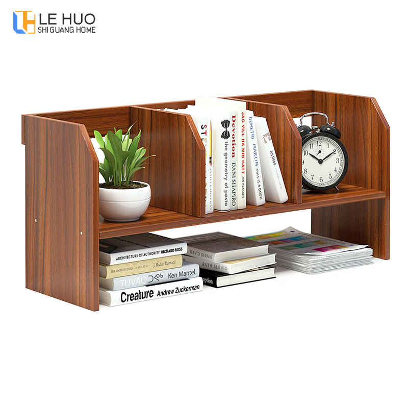 Modern creativity Wood Bookcase Desktop storage organizer bookshelf office table organizer Bookends furnitureModern creativity Wood Bookcase Desktop storage organizer bookshelf office table organizer Bookends furniture