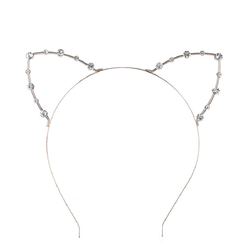 2019 Hot Sale Coroa Bride Tiara De Noiva New Rhinestone Hair Headband Good Quality Alloy Sexy Cat Ear Jewelry For Woman in Hair Jewelry from Jewelry Accessories