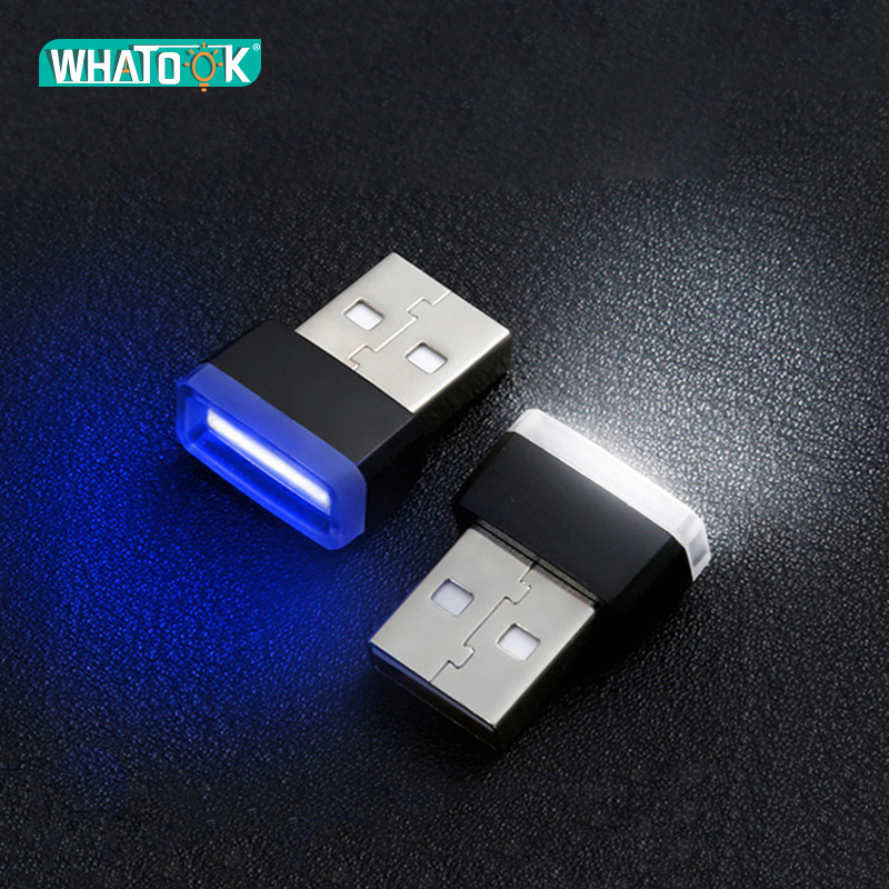 USB LED Atmosphere Lights Interior Car Decorative Mini Lamps Emergency Night Lighting Universal PC Portable Plug Illumination 5V