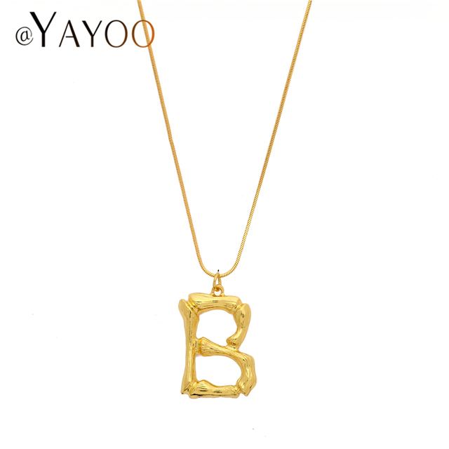 Initial Letter Boho Necklace