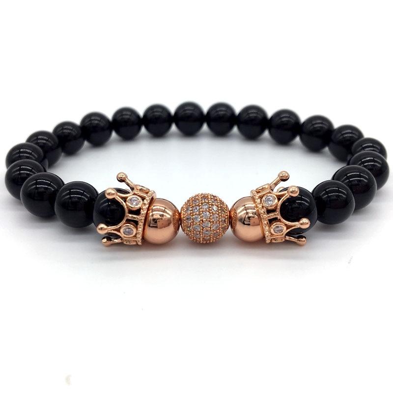 Crown Charm Bracelet: Royal Crown Men Bracelet&Bangle