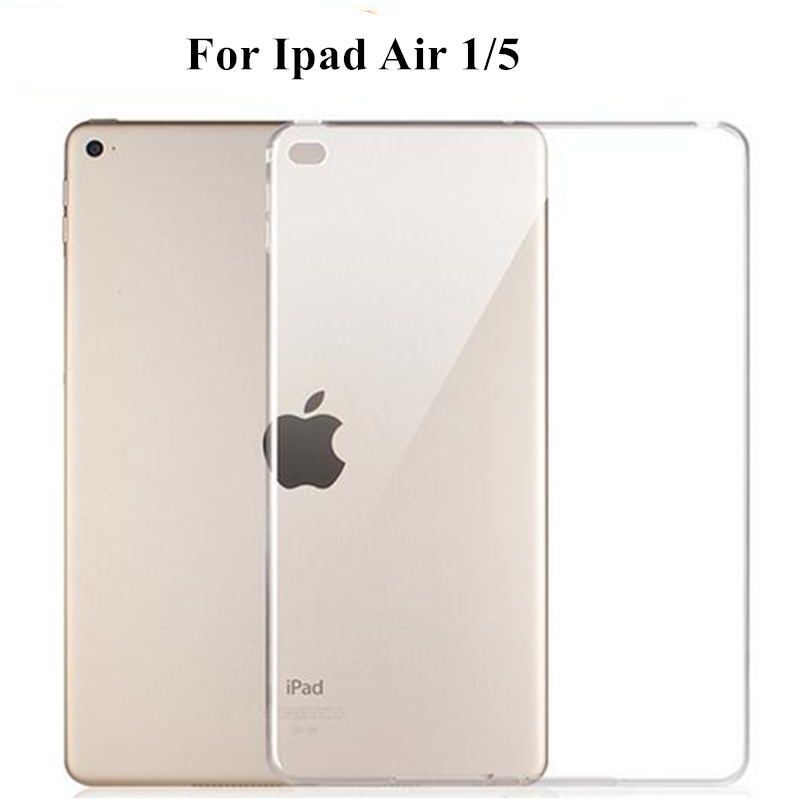 TPU Soft Cover Case for Apple IPad Air 1 Ipad 5 Silicon Clear Transparent Ultra Thin Shell Tablet Accessories  +Stylus Pen Gift tpu case cover for ipad air