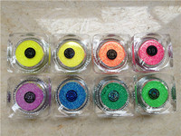 Free shipping 8PCS Glitter Tattoo Fluorescent powder / UV Glitter Tattoo Powder for Body Art Temporary Tattoo /body painting