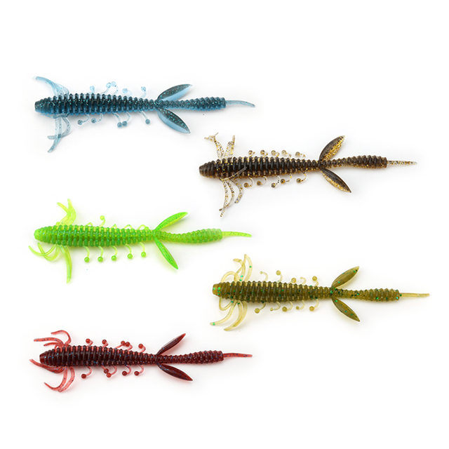Kingdom Fishing lures 7.5cm 1.4g 10cm 3.25g 6pcs/bag high quality Artificial Bait silicone soft lure 5 color model 3810 3