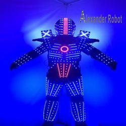 LED costumes de robot/costume LED lumineux/vêtements de LED/costumes de lumière LED/traje con LED s-318