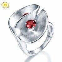 Hutang حجر مجوهرات العقيق الطبيعي الصلبة 925 فضة الزهور الدائري غرامة مجوهرات أفضل هدية عيد تصميم فريد