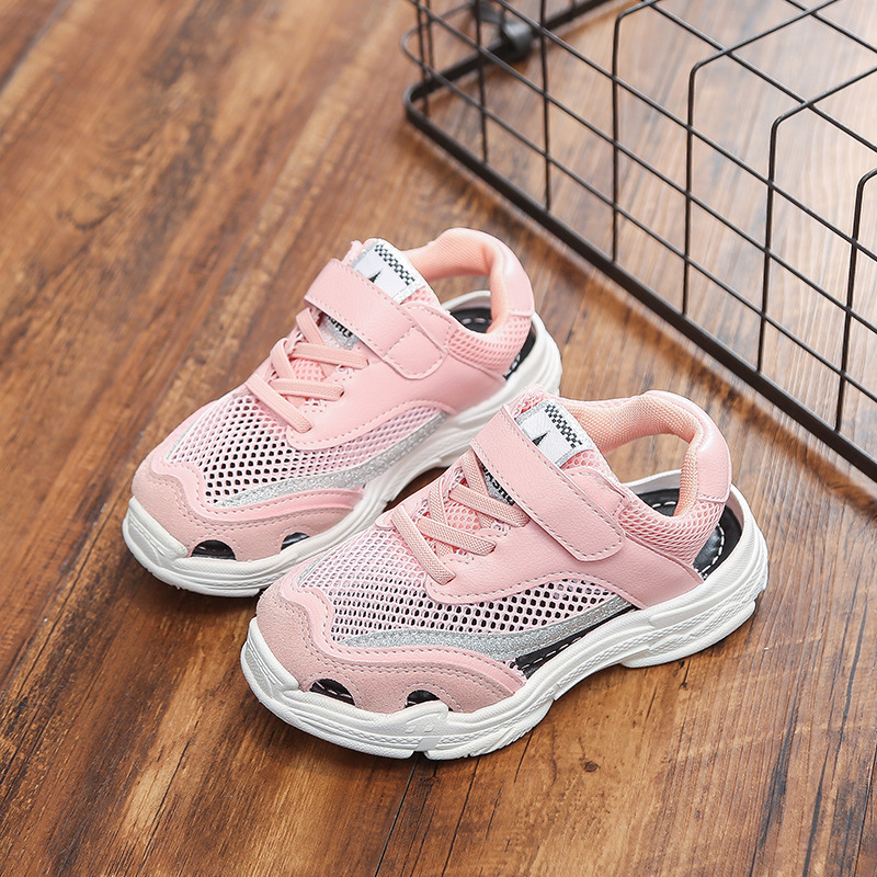 Toddler Sneakers Kid Shoes Children Boys 2018 Summer Shoes for Girls Leather Mesh Girls Sneakers Quality Girl School Shoes
