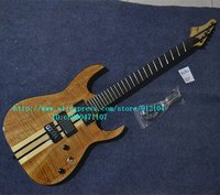 Freies verschiffen neue Große John aufgefächert fret 6-strings e-gitarre mit ELM und passive pickup ziegel schicht in natürliche F-3130