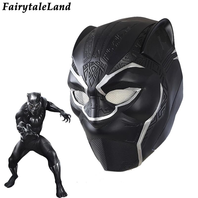 Avengers Infinity War Black Panther Helmet Carnival Halloween Helmet Mask Superhero Black Panther Cosplay Mask plastic Helmet