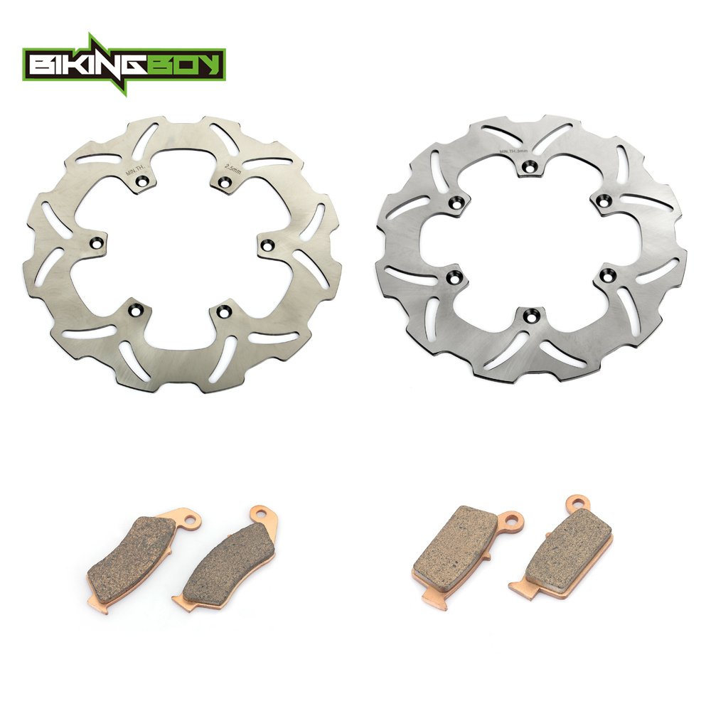 BIKINGBOY MX Motocross Front Rear Brake Disk Disc Rotor Pad for SUZUKI RM250 RM125 RM 250 125 00-09 08 07 06 05 04 03 02 01 fit for rm 125 00 09 rm250 00 01 02 03 04 05 06 07 08 09 10 11 12 front rear brake disc rotor bracket bracket oversize 320mm