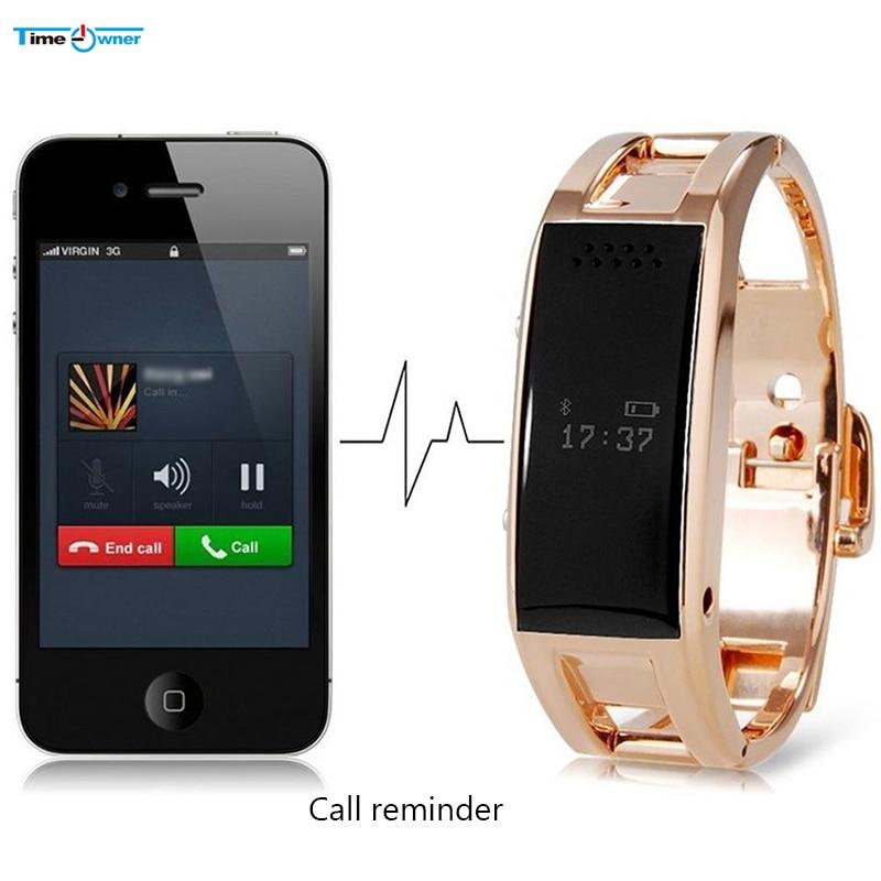 imágenes para Propietario de tiempo D8 Bluetooth Banda Inteligente Perseguidor de La Aptitud Podómetro Sleep Monitor de Llamada/Mensaje Notificador Pulsera Inteligente para iOS Android