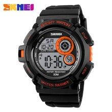 Skmei marca reloj digital hombres deportes relojes led relojes electrónicos multifunción impermeable reloj de los hombres ocasionales al aire libre nuevo