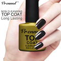 Vrenmol Nail Gel Polish Soak Off UV Top Coat + Base Coat Gel Polish Long-Lasting Nail Gel Lacquer Non-Cleasing Finish Coat
