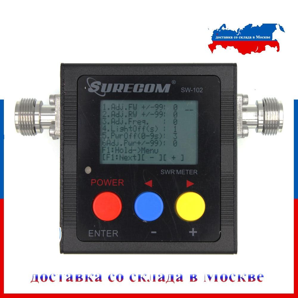 The Latest  Version Surecom SW-102 125-525Mhz VHF/UHF Antenna Power & SWR MeterDigital VHF/UHF SWR & POWER WATT METER
