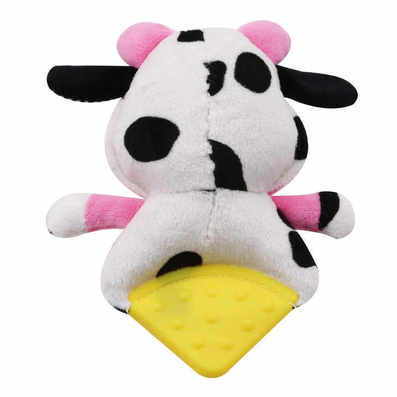 Младенческая музыкальная с BB мягкая плюшевая лиса медведь коровы детская погремушка для кроватки коляска Прорезыватель с погремушкой мобильные телефоны Игрушки для малышей в подарок плюшевая кукла
