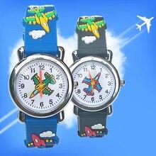 New Aircraft Cartoon Baby Watch Fashion Children dress Analog Quartz kids digita