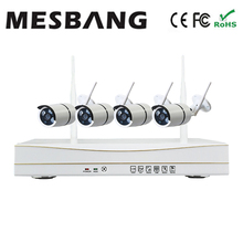 hot Mesbang  outdoor security camera system kits waterproof 720P 4ch cctv IP Camera kit Wireless free shipping by DHL