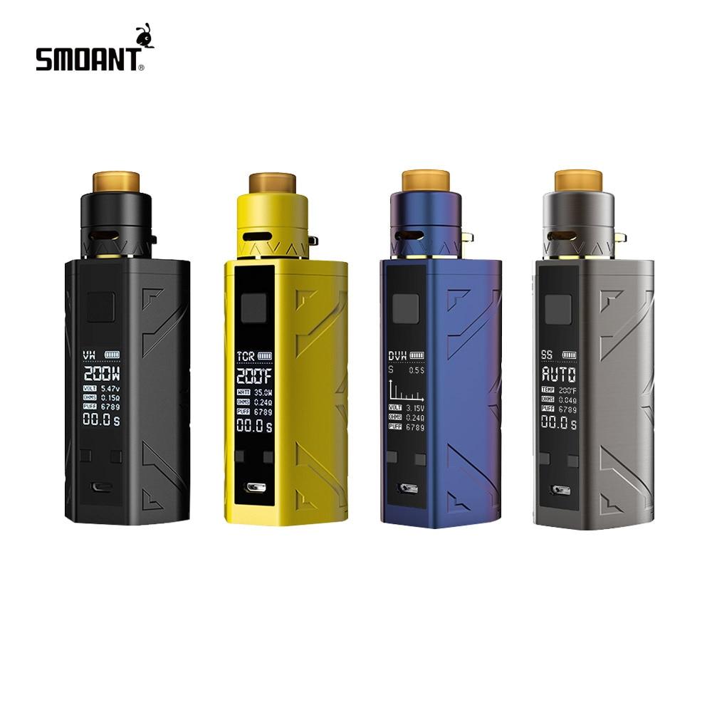 Kit de Squonker TC 200 W pour fumeurs, boîte 7 ML Mod & Battlestar Squonker RDA Kits électroniques Cigs Vape sans batterie 18650