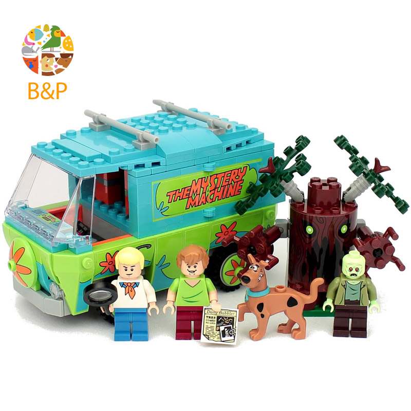 legoing 75902 Scooby Doo The Mystery Machine Building Blocks Toys Set Bricks Boy Kid Toys Compatible With Birthday Gift 10430 pogo lepin bela 10430 scooby doo mystery machine scooby doo building blocks bricks toys compatible legoe