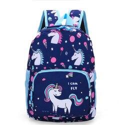 2019 nowy nadruk z jednorożcem dzieci tornister Cute Cartoon torby dla dzieci plecak przedszkolny dla chłopców dziewcząt torby szkolne dla dzieci