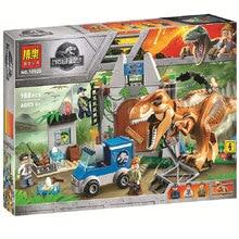 Bela Jurassic World T. rex Breakout Building Kit Compatible Legoings 10758 Building Toys Blocks Set(168 Piece) legoing jurassic world series t rex breakout model building block brick toy for children birthday gift compatible 10758