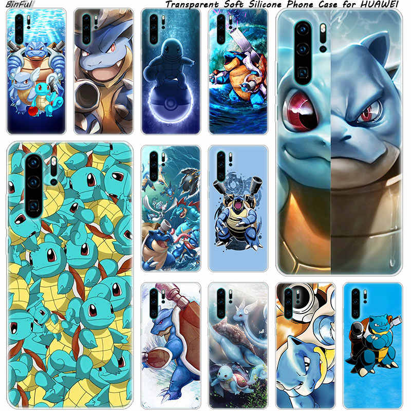 Squirtle Soft Silicone Phone Case for Huawei P30 P20 Pro P10 P9 P8 Lite 2017 P Smart Z Plus 2019 NOVA 3 3i Fashion Cover