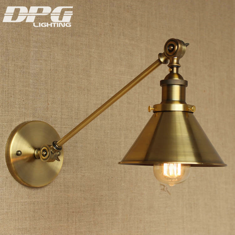 Classic Wall Lamp Gold Industrial Lighting Country Vintage Led Loft Antique long lights American Sconce for Home Indoor loft vintage modern wall led lamp antique lights black flower classic sconce for home indoor bedside bed retro cheap lighting