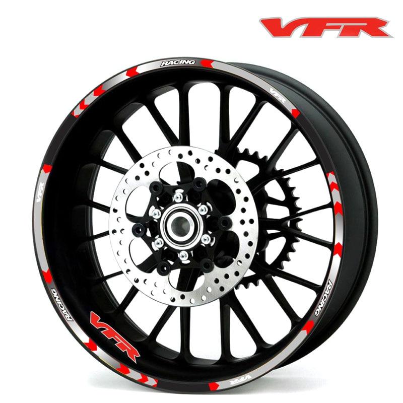 Hot sell 7 Style Motorcycle Wheel Tire Rim Stickers 17inch wheel For Honda VFR VFR750 VFR800 VFR1200 VFR1200F